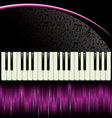Piano purple background vector