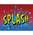 Comic book splash vector