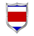 Costa rica flag button vector
