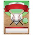 Baseball tournament flyer background vector