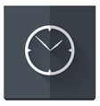 Paper flat icon with a shadow clock vector