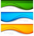 Set of wavy banners vector