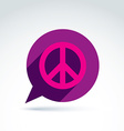 Chat on peace theme antiwar icon speech bubble vector