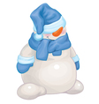 Snowman blue vector