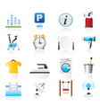 Hotel and travel icons vector