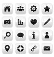 Website menu navigation buttons - home blog vector