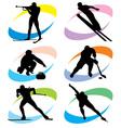 Set winter sport icons vector
