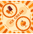 Ice cream label design vector