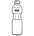 Oil bottle vector