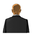 Bald man in suit from back or rear view vector