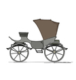 Royal horse carriage vector