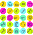 Set of icons mens clothing and accessories vector