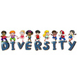 Kids with different nationalities vector