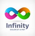 Infinity loop symbol logo icon design template vector