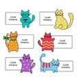 Signs with cartoon kittens vector