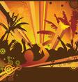 A hot summer party flyer vector