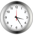 Silver clock vector