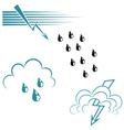 Weather symbol set vector