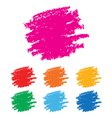 Grunge rainbow stains vector