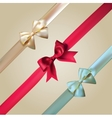 Corner ribbons and bows set vector
