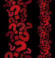 Question marks seamless pattern vertical vector