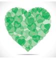 Green heart shape make big heart vector