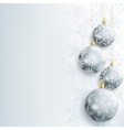 Beautiful new year and christmas card with gray vector