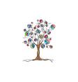Decorative art tree with fruit vector
