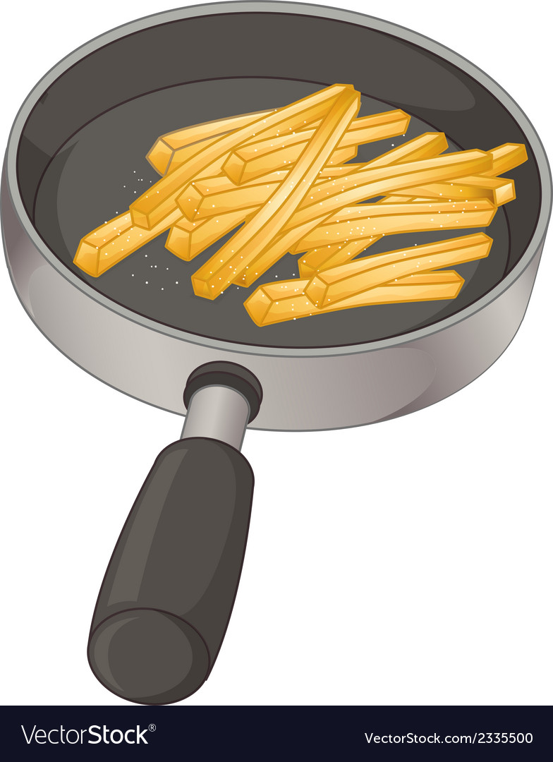 A pan with fries vector | Price: 1 Credit (USD $1)