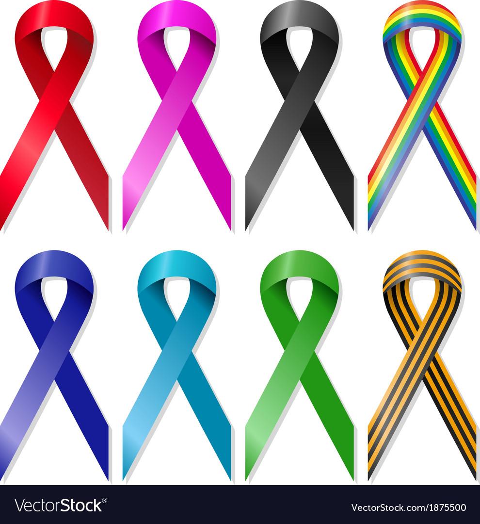 Awareness ribbons vector | Price: 1 Credit (USD $1)