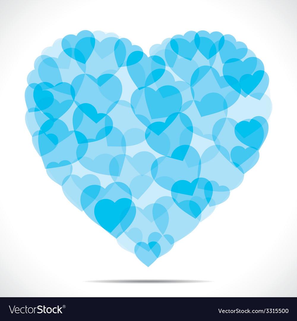 Blue small heart make big heart vector | Price: 1 Credit (USD $1)