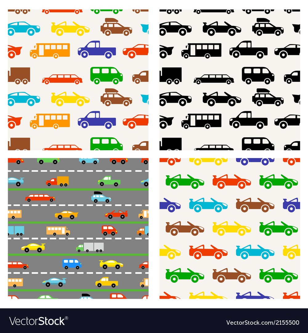 Colorful little cars vector | Price: 1 Credit (USD $1)