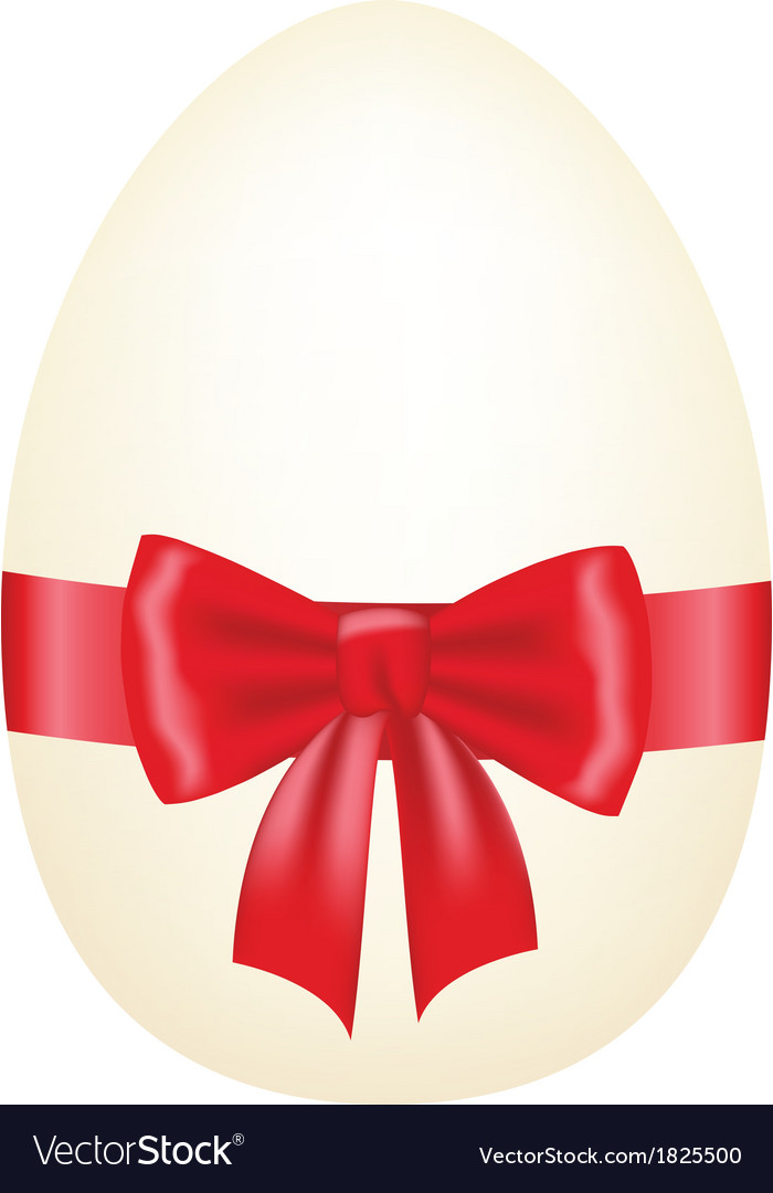 Egg with bow vector | Price: 1 Credit (USD $1)