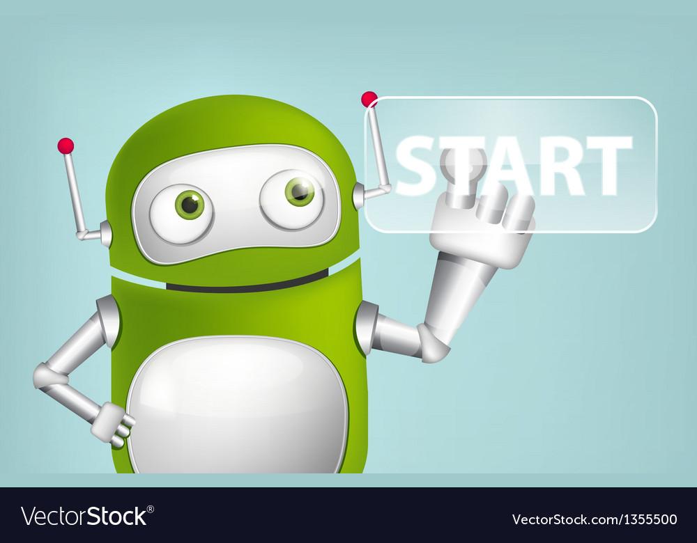 Green robot vector | Price: 1 Credit (USD $1)