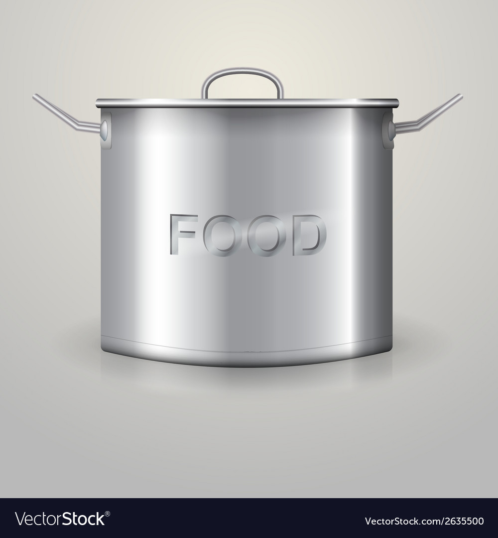 High aluminum saucepan vector | Price: 1 Credit (USD $1)