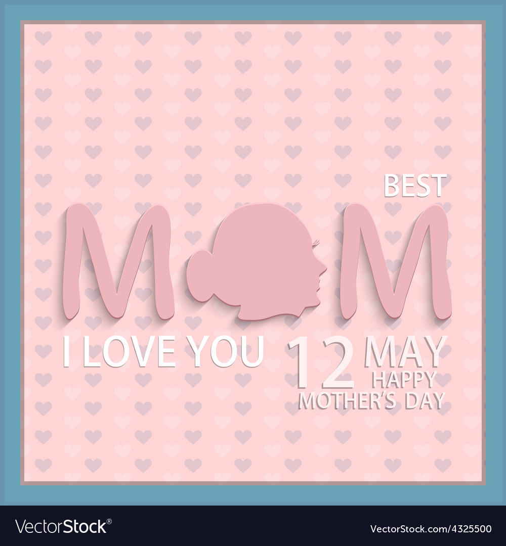 Modern 12 may mothers day background vector | Price: 1 Credit (USD $1)