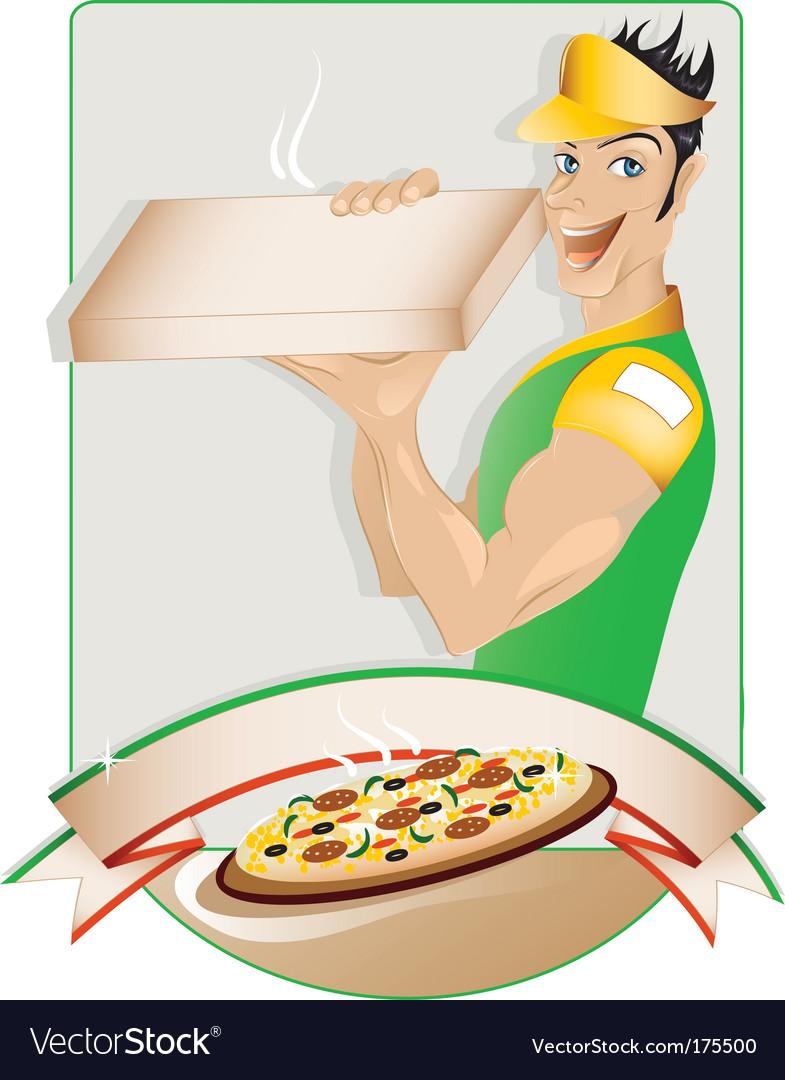 Pizza delivery boy vector | Price: 1 Credit (USD $1)