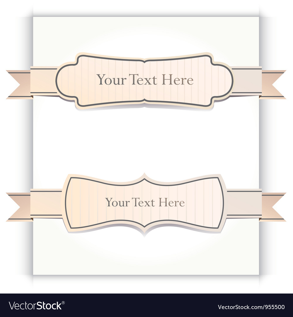 Ribbons set vector | Price: 1 Credit (USD $1)