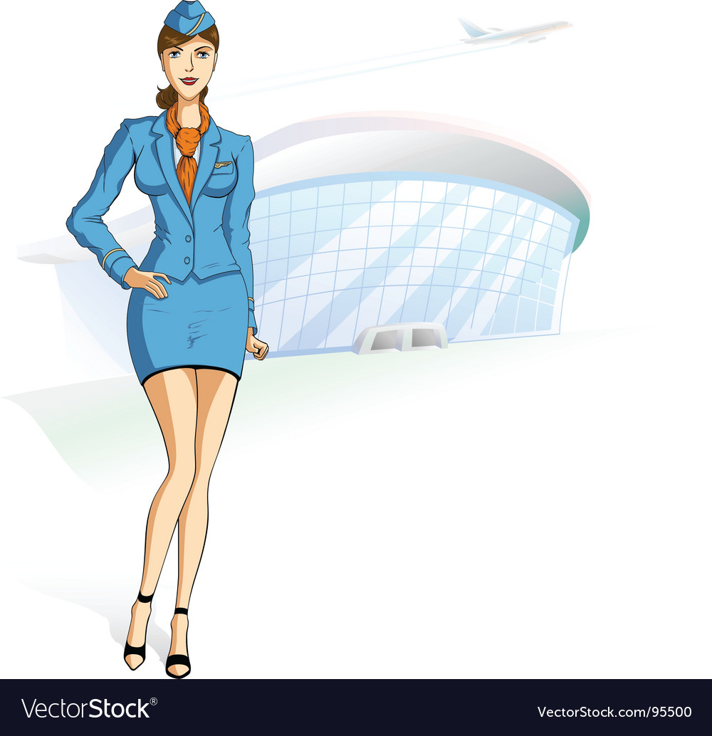 Stewardess vector | Price: 5 Credit (USD $5)