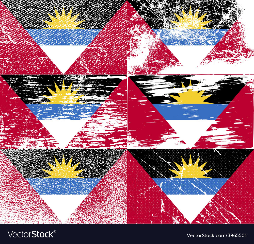 Flag of antigua and barbuda with old texture vector | Price: 1 Credit (USD $1)