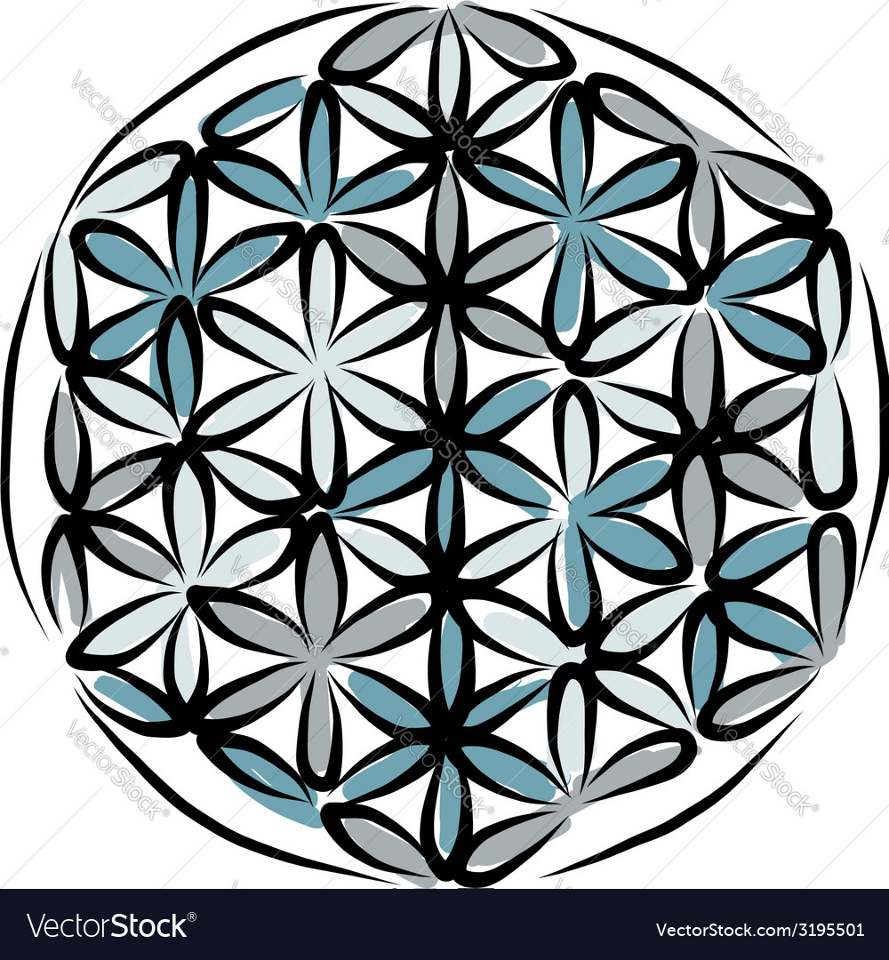 Flower of life sketch for your design vector | Price: 1 Credit (USD $1)