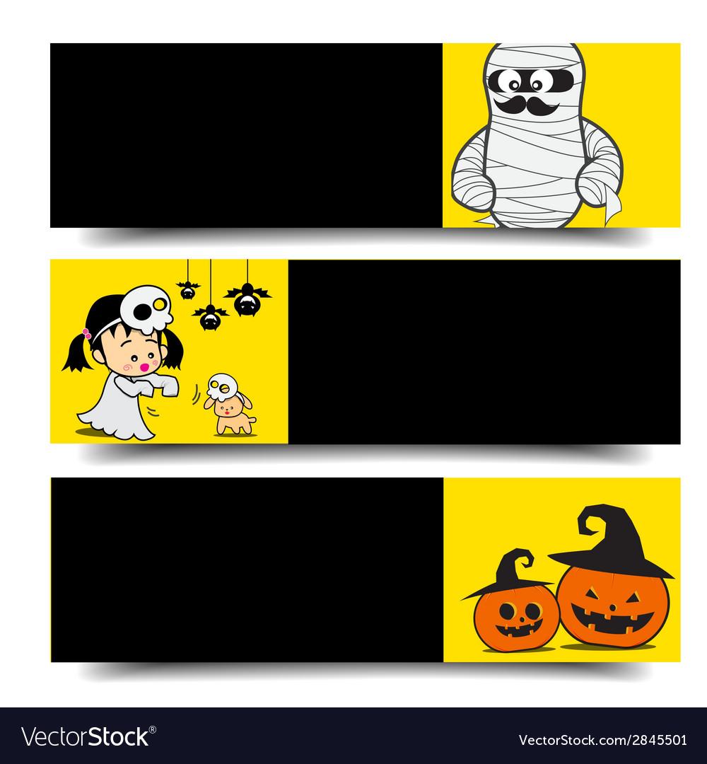 Halloween banner 002 vector | Price: 1 Credit (USD $1)