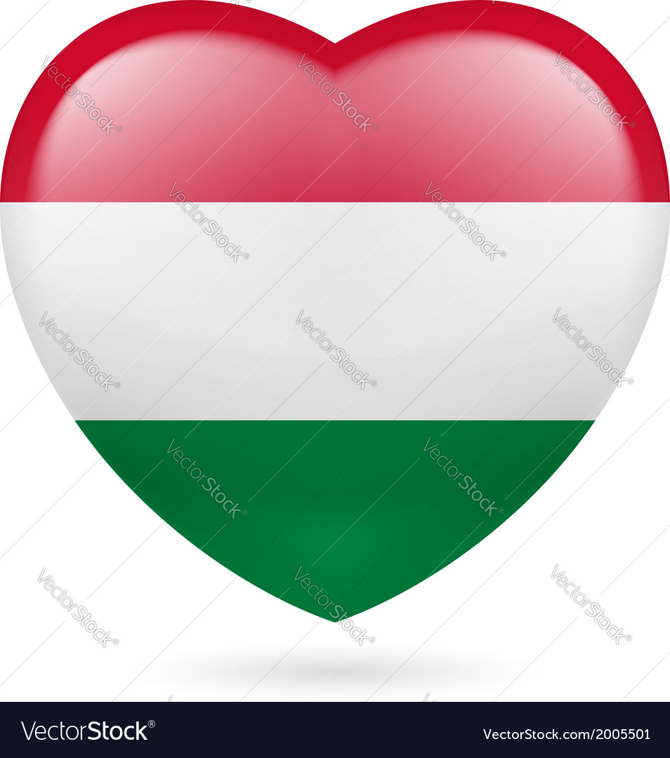 Heart icon of hungary vector | Price: 1 Credit (USD $1)