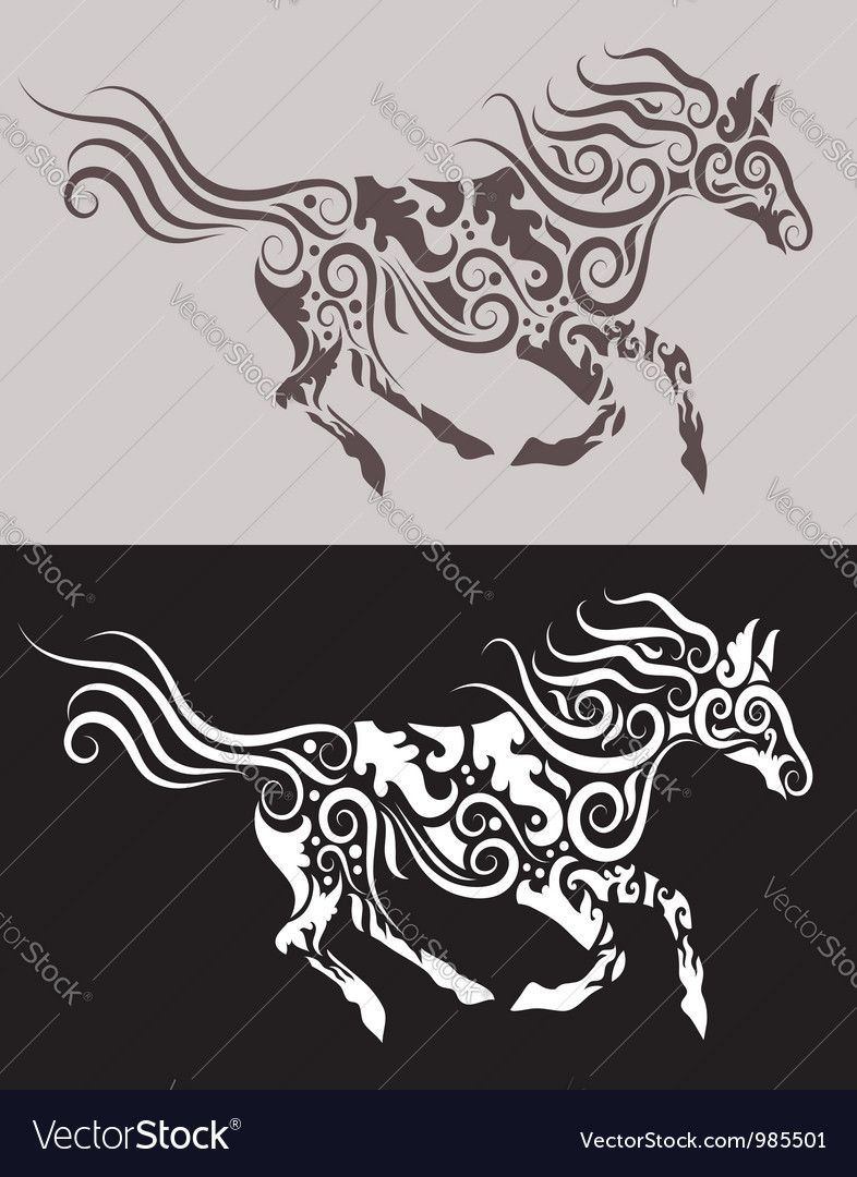 Horse tribal vector | Price: 1 Credit (USD $1)