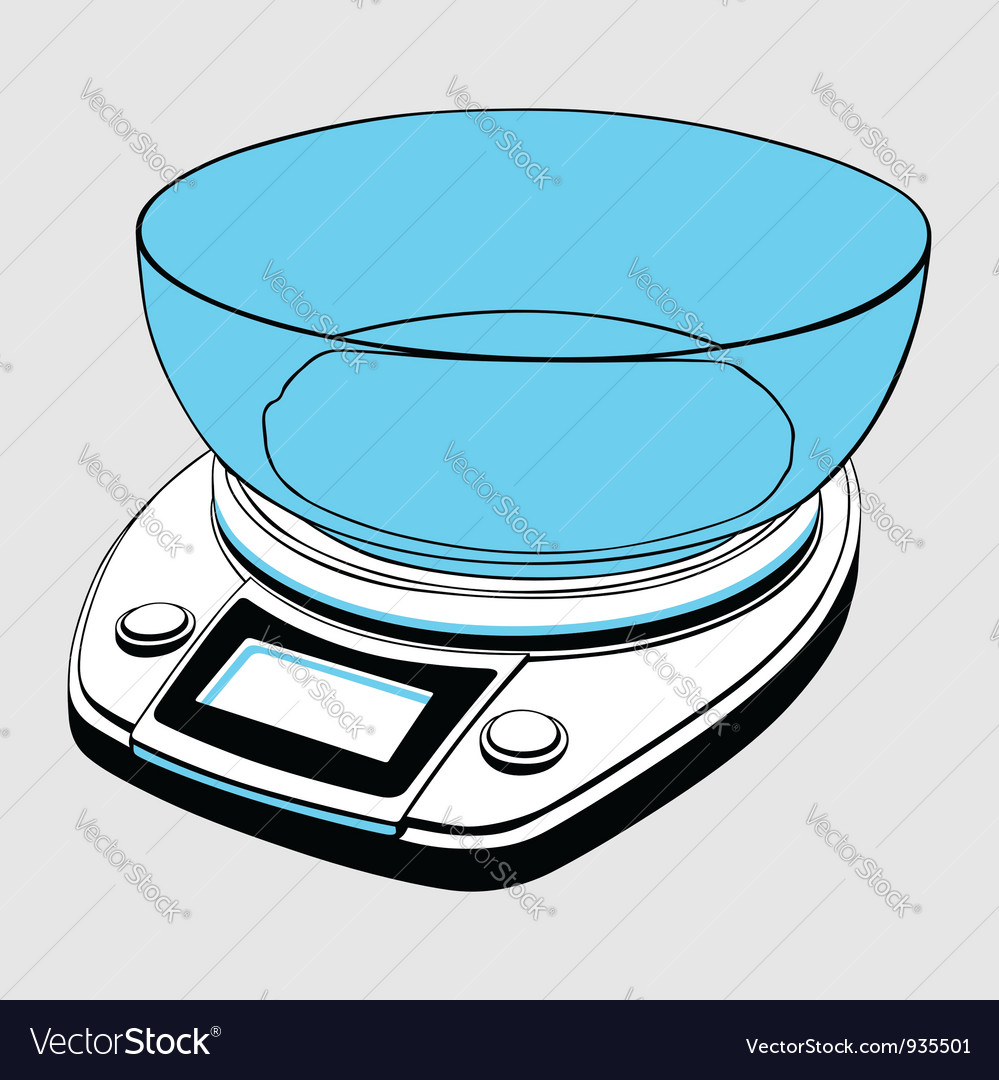 Kitchen scale vector | Price: 1 Credit (USD $1)