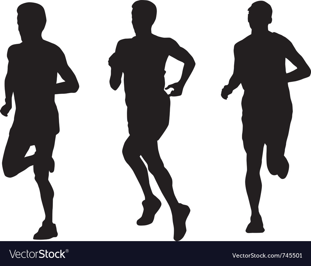 Marathon runners vector | Price: 1 Credit (USD $1)