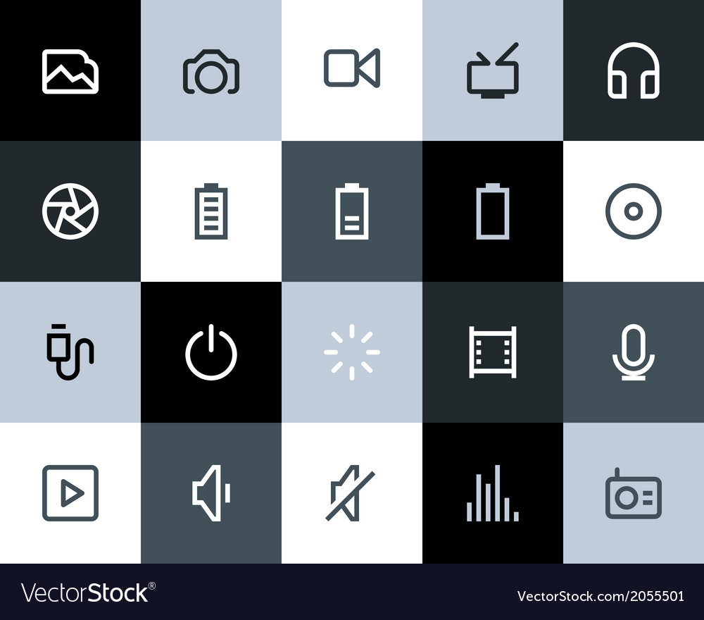Multimedia icons flat vector   Price: 1 Credit (USD $1)