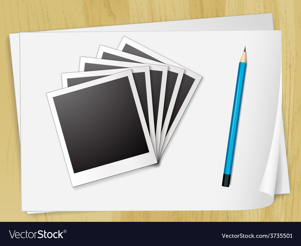 Photo frames and papers vector | Price: 1 Credit (USD $1)