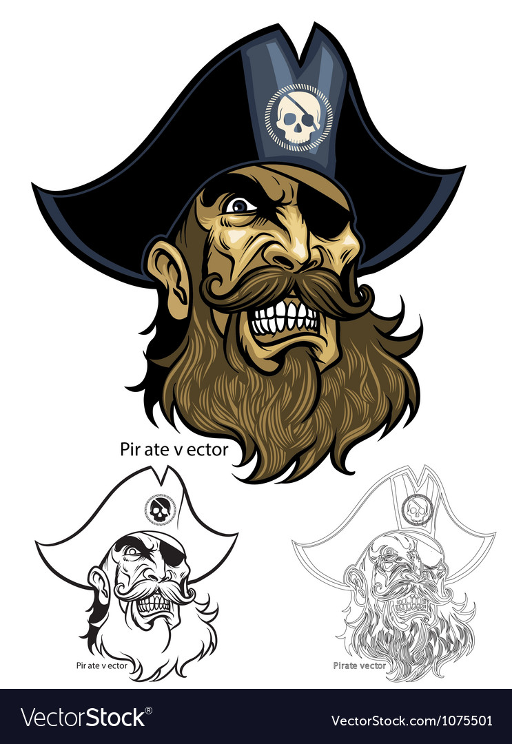 Pirate head vector | Price: 3 Credit (USD $3)