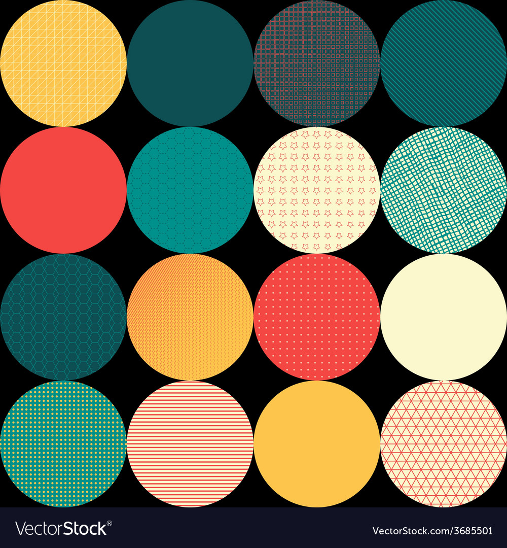 Seamless pattern of circles vector | Price: 1 Credit (USD $1)
